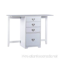 """Southern Enterprises Fold-Out Organizer and Craft Desk 48"""" Wide  White Finish - B004773CKW"""