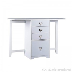 Southern Enterprises Fold-Out Organizer and Craft Desk 48 Wide White Finish - B004773CKW
