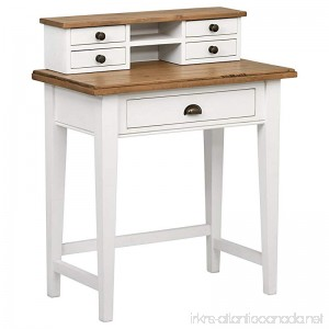 Stone & Beam Fern Hill 5-Drawer Office Desk 32 W White and Natural Pine - B075Z93NKX