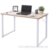 Tangkula Writing Table Wood PC Laptop Beginnings Computer Desk Home Office Furniture (Natural) - B077PN3FXW