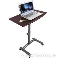Tatkraft Salute Laptop Desk Cart Computer Stand with Adjustable Top and Casters - B017K275L2