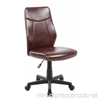 Anji Mid Back Armless Leather Computer Office Desk Chair - B01MCWYEUX