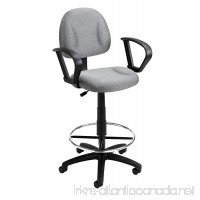 Boss Office Products B1617-GY Ergonomic Works Drafting Chair with Loop Arms in Grey - B000FXXO5U