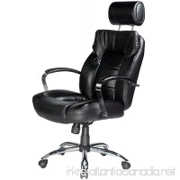 Comfort Products Commodore II Oversize Leather Chair with Adjustable Headrest Black - B0039PCT48