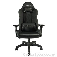 E-WIN Gaming Chair with Adjustable Armrest and Backrest High-back Ergonomic Computer Chair Leather Swivel Executive Office Chair Black - B07C1LFRPR