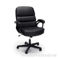Essentials by OFM Leather Executive Chair  Ergonomic Managers Computer/Office Chair  Black (ESS-6025) - B06XR954J8