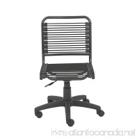 Euro Style Bungie Low Back Adjustable Office Chair  Black Bungies with Graphite Black Frame - B001OW7JKM