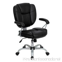 Flash Furniture Mid-Back Black Leather Swivel Task Chair with Arms - B003V3TK2W
