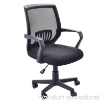 Giantex Mesh Office Chair Mid Back Swivel Lumbar Support Desk Chair  Computer Ergonomic Mesh Chair With Armrest  Black - B07DN93Q46