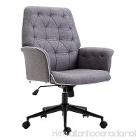 HOMCOM Modern Tufted Home Office Chair with Lumbar Support and Arms - B079S7FJBQ