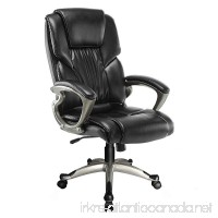 Mecor Ergonomic High Back Leather Office Chair Big and Tall Executive Swivel Chair with Arms Black Home - B079R4GX67