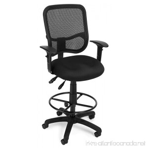 OFM 130-AA3-DK-A05 Mesh Comfort Series Ergonomic Task Chair with Arms and Drafting Kit - B001A0AQI0