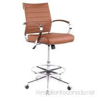 Poly and Bark Tremaine Drafting Chair in Vegan Leather  Terracotta - B07B4KF966