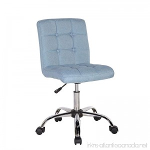Porthos Home Button-Tufted Alice Office Chair Blue - B073WGJXC7