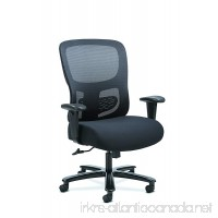 Sadie Big and Tall Office Computer Chair  Height Adjustable Arms with Adjustable Lumbar  Black (HVST141) - B074SRKX9H