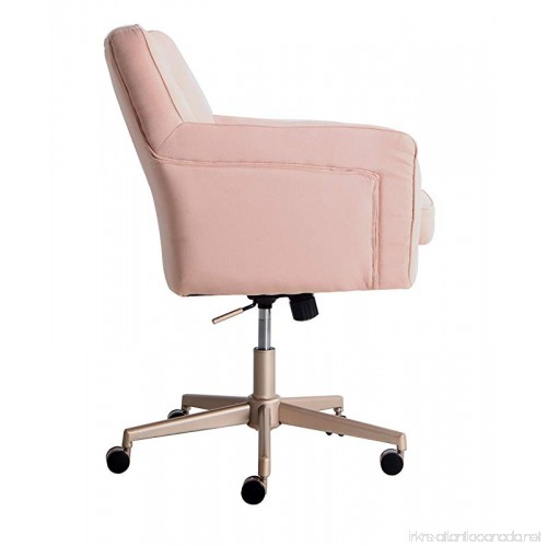 Serta Style Ashland Home Office Chair Twill Fabric Blush Pink B074mml789