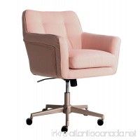 Serta Style Ashland Home Office Chair  Twill Fabric  Blush Pink - B074MML789