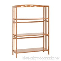 100% Natural Bamboo Bookshelf Multi-Layer Landing Storage Rack Simple Removable Student Bookcase (3-Tier) - B06ZZCN7VD