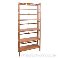 Bamboo 5-Shelf Bookcase  Natural - B01CW5Z9A6