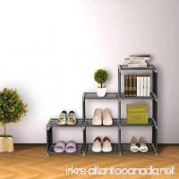 Blissun 3 Tier Bookcase Cube Shelving 6-cube Storage Cabinet Cube Closet Organizer Shelf Black BLIS-A01 - B071VRB4R1