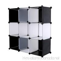 C&AHOME DIY 9 Cube Bookcase Media Storage Organizer Shelf Toy Rack Closet (White Cross) - B01AYVFBJY