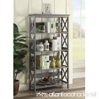 Convenience Concepts Oxford 5-Tier Bookcase Gray - B074T5P3GY