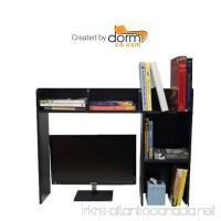 DormCo Classic Desk Bookshelf - Black - B00J5JGBLY