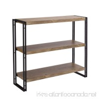 FIVEGIVEN 3 Tier Bookshelf Rustic Industrial Bookcase with Modern Open Wood Shelves  Sonoma Oak - B075T7WSC9