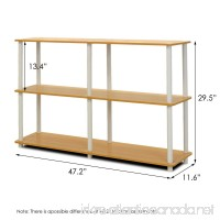 Furinno 99130BE/WH Turn-N-Tube 3-Tier Double Size Storage Display Rack  Beech/White - B007WUZPLA