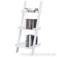 Giantex 3-Tier Leaning Wall Bookshelf Ladder Storage Display Bookcase Ladder Shelf Multipurpose Plant Flower Stand Shelf (White) - B079BL8B6Z