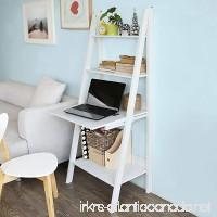 Haotian Storage Display Shelving Ladder Shelf Bookcase with Desk/Memo Board and 3 Shelves  FRG115-W White - B01M98OZK2