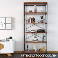Homevol Bookcase Book Shelves 5-Shelf Bookshelf Industrial Style Metal and Wood Free Vintage Standing Storage Shelf Units - B078YQLGMS
