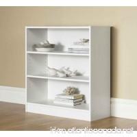 Mainstays 3-Shelf Bookcase - Wide Bookshelf Storage Wood Furniture 1 fixed shelf 2 adjustable shelves Bookcase (White) - B06X9FD3RG