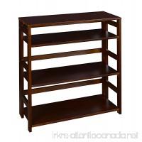 Regency Flip Flop 34-inch High Folding Bookcase- Mocha Walnut - B0074FWPPW