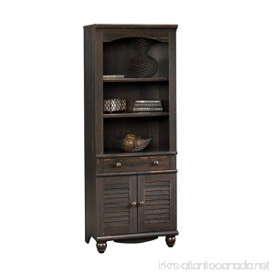 Sauder Harbor View Library with Doors Antiqued Paint - B001DNF26K