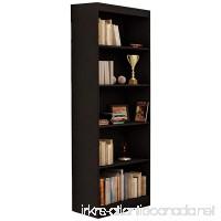 South Shore Jazz 5-Tier Open Bookcase  72-Inch  Black - B00PCJWSA4
