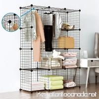 Tespo Wire Cube Storage Shelves Book Shelf Metal Bookcase Shelving Closet Organization System DIY Modular Grid Cabinet (12 Cubes) - B077WRZHYY