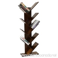 UNICOO - Bamboo 9-Shelf Tree Bookcase  Special Design Bookshelf  Display Storage Rack for CDs  Movies & Books. (Antique Brown - 9TB) - B07BWL1Y8V