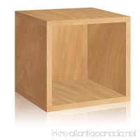 Way Basics Eco Stackable Storage Cube and Cubby Organizer  Natural (made from sustainable non-toxic zBoard paperboard) - B001TREQE4