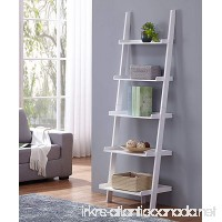 "White Finish 5 Tier Bookcase Shelf Ladder Leaning - 72"" Height - B0754NKD1C"