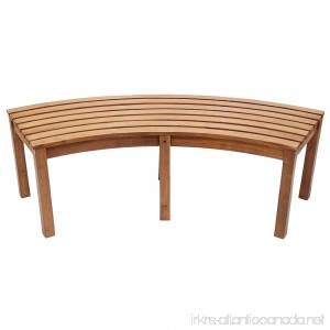 Achla Designs Curved Backless Bench - B00KHJUZAO