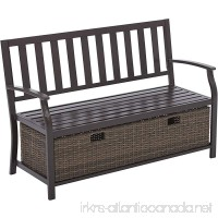 Better Homes and Gardens Camrose Farmhouse Bench with Wicker Storage Box - B074LSNV76