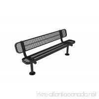 CoatedOutdoorFurniture B6WBS-BLK Park Bench with Back 6 Feet Black - B075H4TKMS