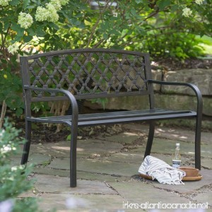 Coral Coast Crossweave Curved Back 4-ft. Metal Garden Bench - B00O06DL2O
