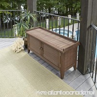 Home Styles 5134-26 Montego Bay Outdoor Solid Wood Storage Bench  Barnside Brown - B07DB617FD