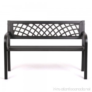Patio Park Garden Bench Porch Path Chair Outdoor Deck Steel Frame New - B01HROHF9U