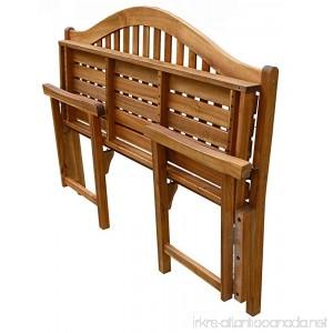 Patio Wise PWFN-030 Classic Folding Bench - B01MT7CV4W