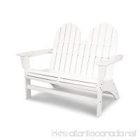 POLYWOOD Vineyard Adirondack Bench (White) - B079X26YRQ