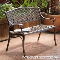 Rustproof Aluminum Outdoor Park Bench Antique Copper - B011S06NLA