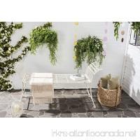 Safavieh Outdoor Collection Hadley Antique White Bench - B01941MS0U